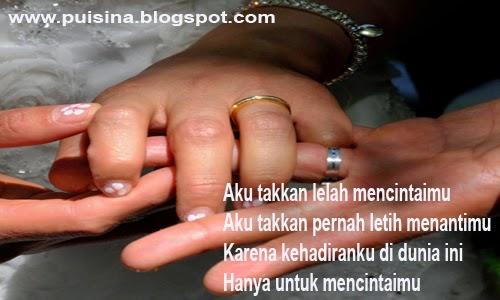 Puisi Harapan Pernikahan Untuk Kekasih