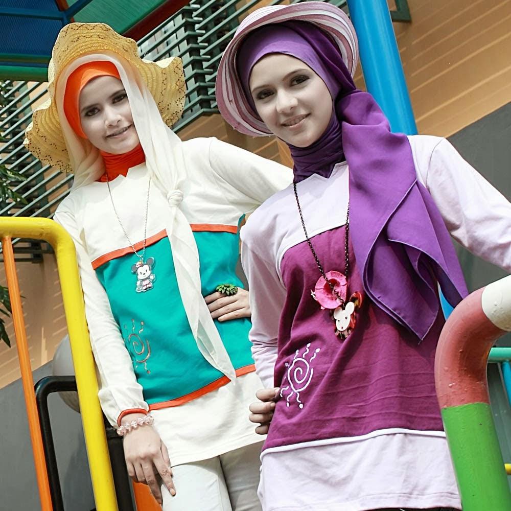 Contoh Baju Remaja Muslim Dari Bahan Kaos