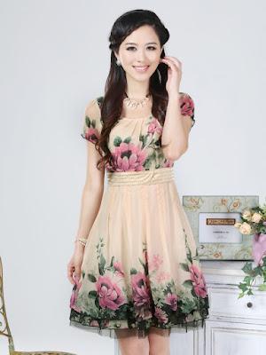 Model terbaru Dress Korea Online 2016