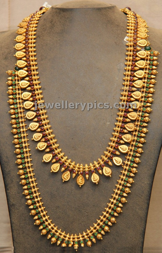 Traditional Temple Jewellery Haram Designs By Hiya