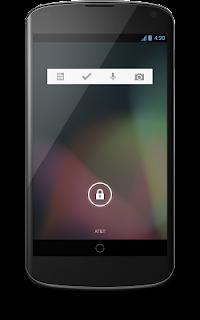 Widget Google Keep auf einem Android-Handy.