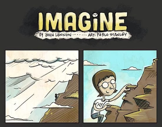 "John Lennon's ""Imagine"", Made Into A Comic"