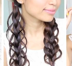 feather loop braid hair tutorial for girls