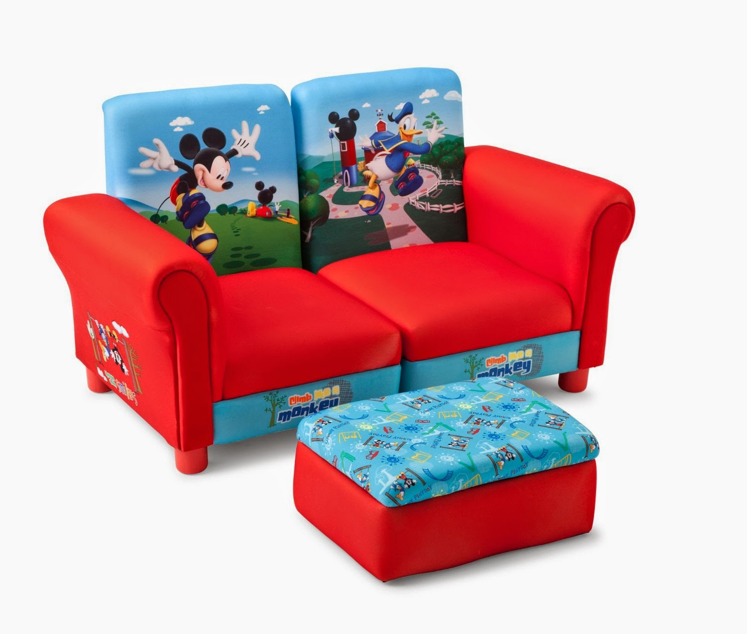 Baby Sofa Bed : Pieces Delta Mickey Mouse Upholstered Sectional Set