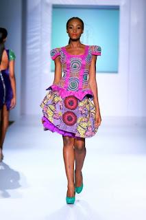 Iconic invanity NIgerian kitenge-dress-design MTN lagos fashion and Design week