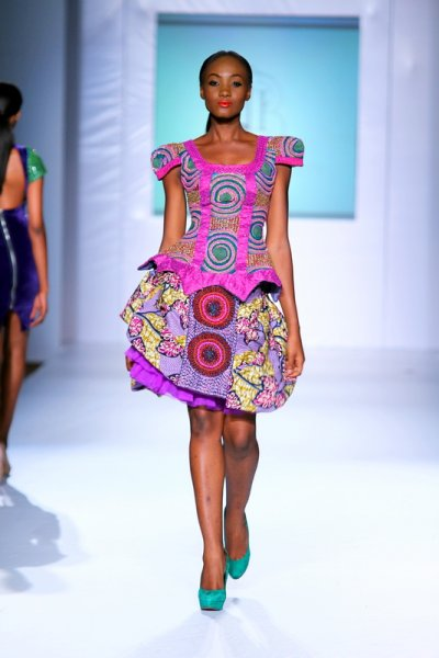 Iconic invanity NIgerian kitenge-dress-design MTN lagos fashion and Design week