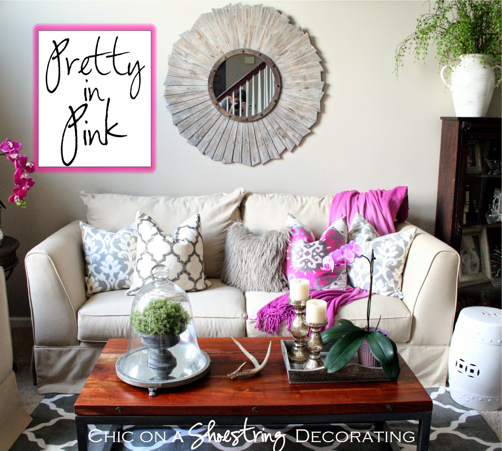 pink decor chic on a shoestring decorating blog