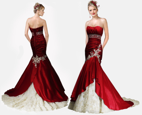 Wedding Dresses Color Red : Destination dresses red color accents on wedding