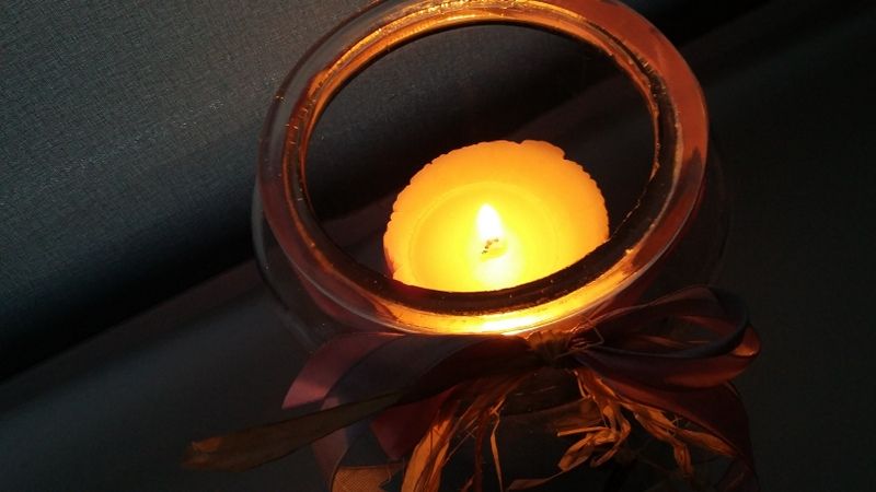 jesień, świeczki, jesienna aura