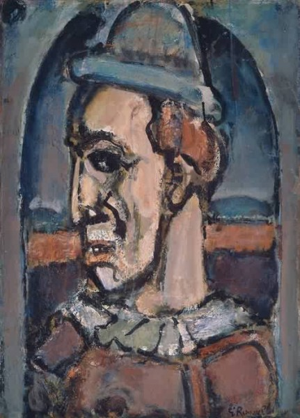 Clown painting by Georges Rouault