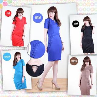 Rosabella Bodycone Layer Mini Dress 110 Ribu, Kode D123