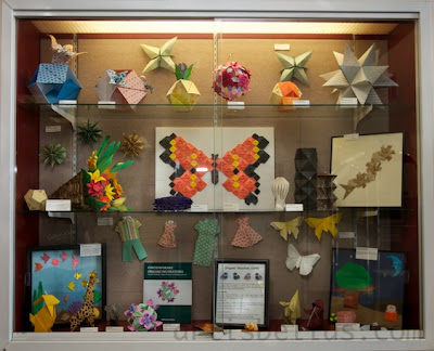 Origami Display at First Colony Branch Library