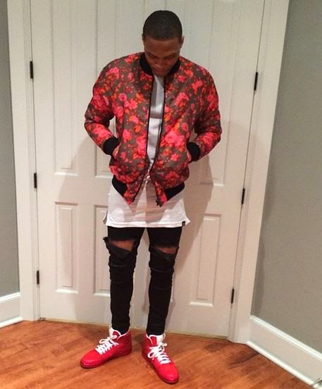 26f6786ab81e Russell Westbrook Wearing Air Jordan 1 Retro  Legends of the Summer   Sneakers