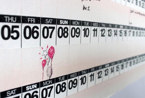 Wandkalender mit Masking Tapes – leichte Wandgestaltung fürs Büro und Kinderzimmer zum Selbermachen