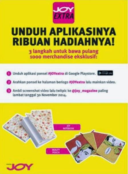 Kuis Download Aplikasi Berhadiah 1000 Merchandise JOY Magz