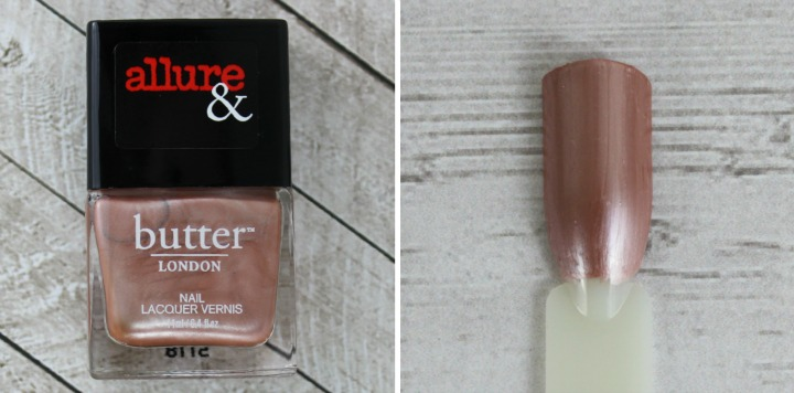 Allure & Butter London Arm Candy Nail Lacquer Collection review swatches I'M ON THE LIST