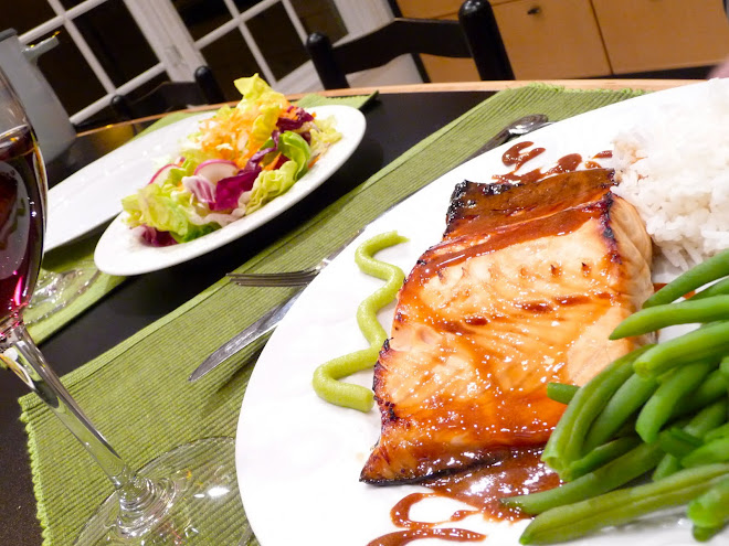 Salmon Filet with Soy~Honey~Lime Sauce & Wasabi