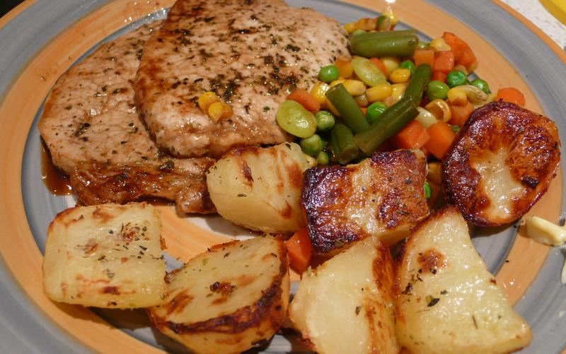 Pork chops and potato recipe