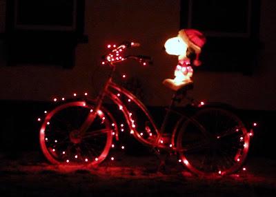 Snoopy Christmas Lights Bicycle