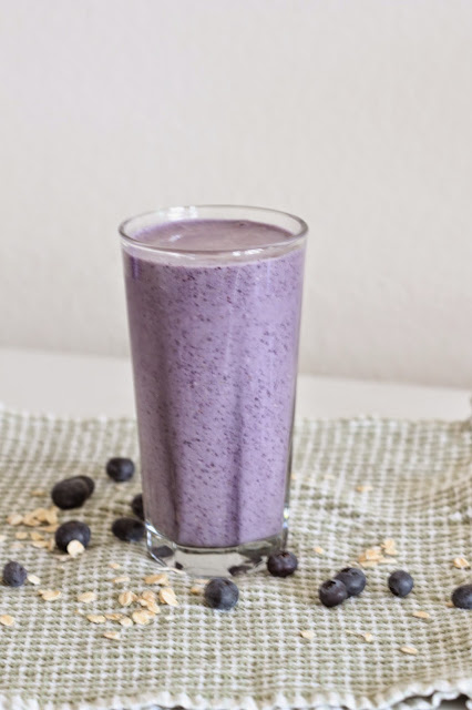 Blueberry Muffin Protein Shake | Tortillas and Honey