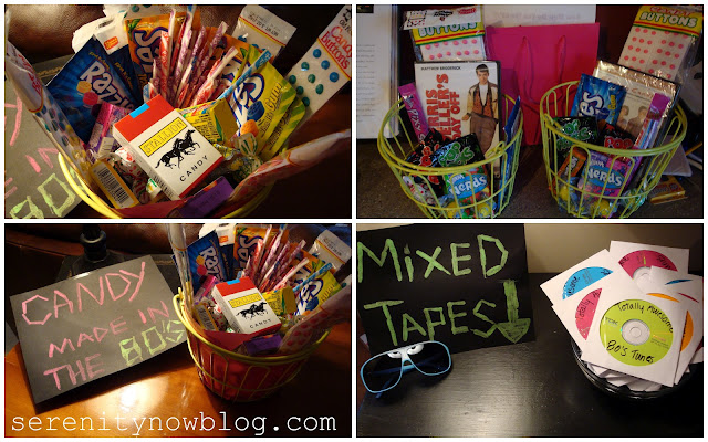 80s Theme Birthday Party Ideas, from Serenity Now blog