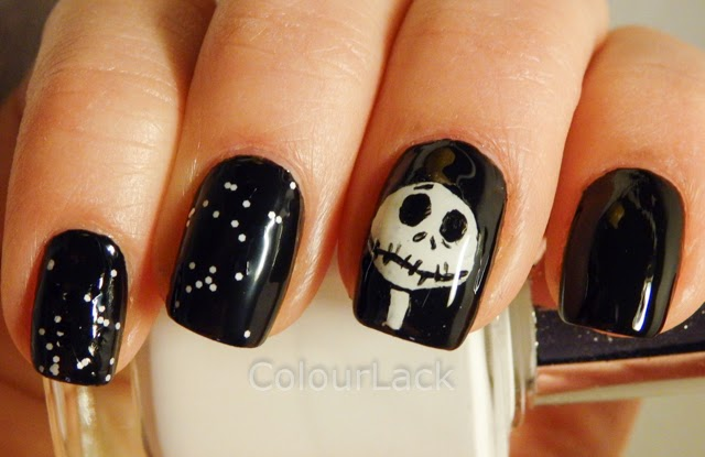 Colour Lack Halloween Nails Jack Skellington From The Nightmare