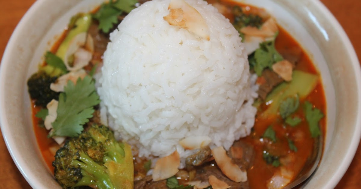 Savory Moments: Hot beef, broccoli, and coconut red curry