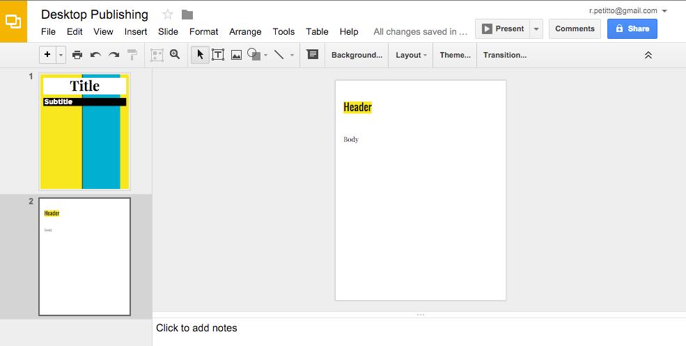 use google slides as a desktop publisher edtechify