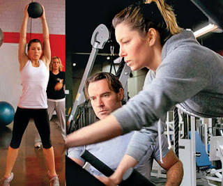 Jessica Biel Workout  with Trainer