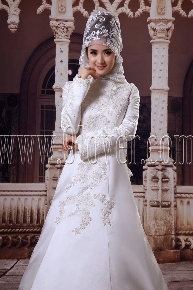 Islamic Wedding Dresses For   : New hijab fashion muslim wedding dresses