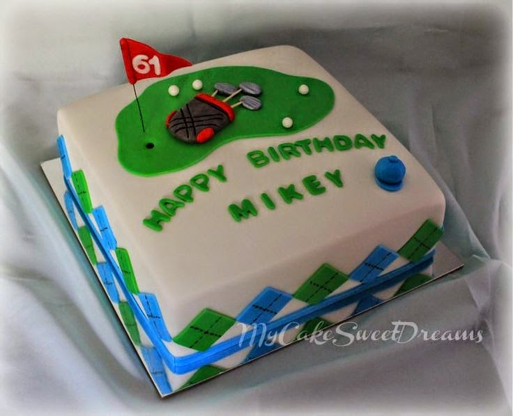 My Cake Sweet Dreams Golf Themed Birthday Cake