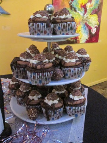 Tower of Nutella Cupcakes