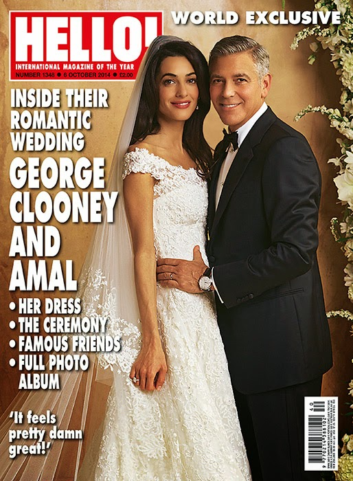 Amal Alamuddin Wedding Dress, Amal Alamuddin Wedding Photos, Amal Alamuddin Oscar de la Renta Dress, Amam Alamuddin George Clooney Wedding, Amal Alamuddin Photos