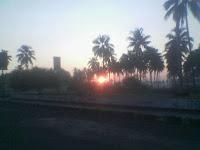 Photo Sunrise di Toll Pangandaran