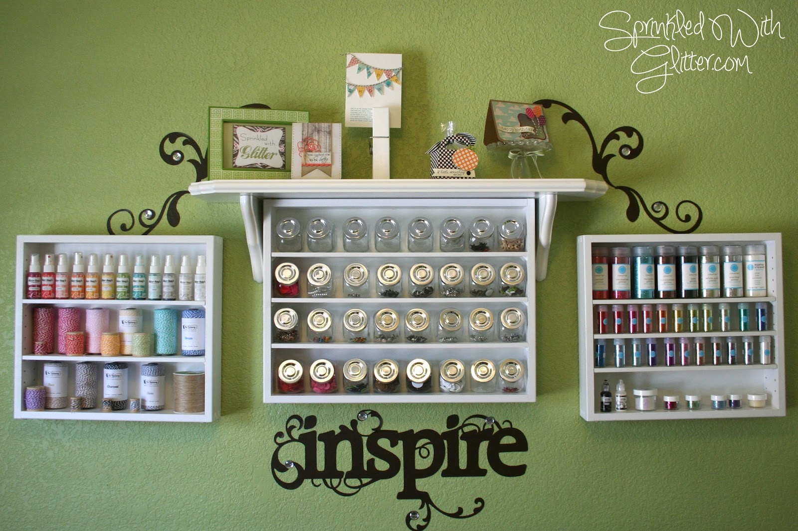 Sprinkled with glitter craft room organization for Craft supplies organization ideas