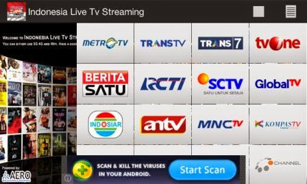 TV Online Streaming Lokal Indonesia di Android