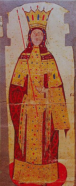 Η Άννα της Σαβοΐας, αυτοκράτειρα του Βυζαντίου.