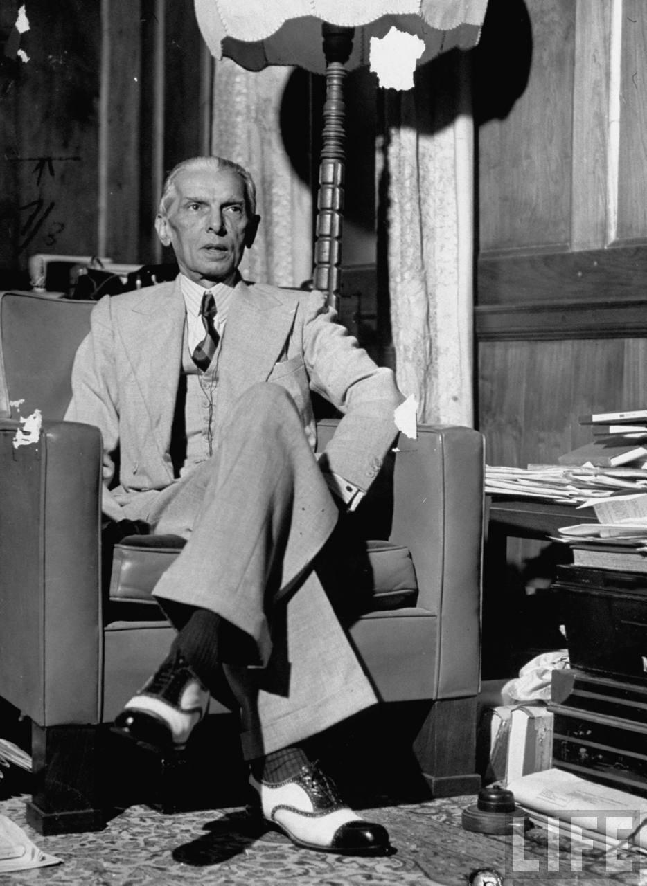 Portrait of Mohammed Ali Jinnah