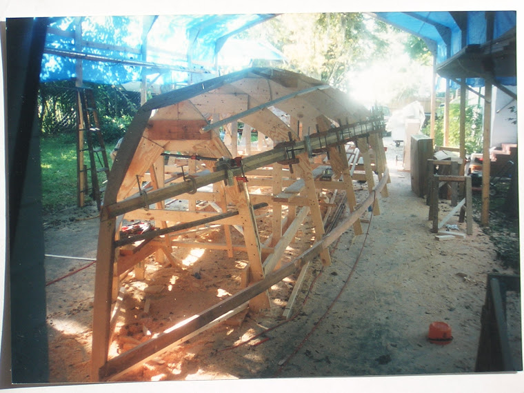 Build framework to build cold molded hull.