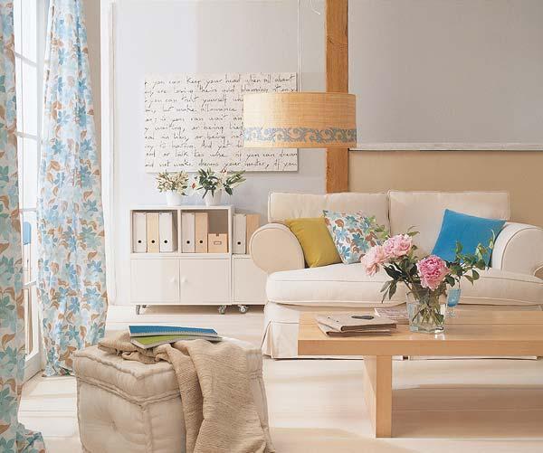 Consejos para la decoraci n de una sala o sal n ideas - Colores relajantes para salones ...