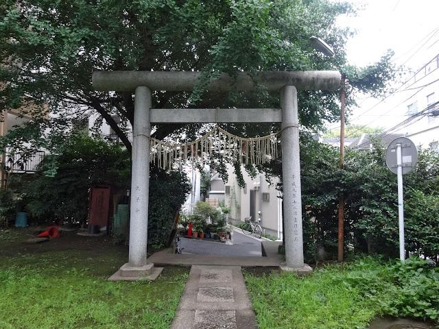 第六天神社,鳥居,東中野〈著作権フリー無料画像〉Free Stock Photos