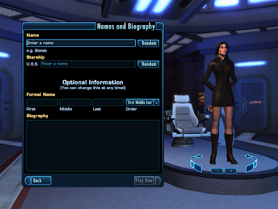 Star Trek Online - Names and Biography