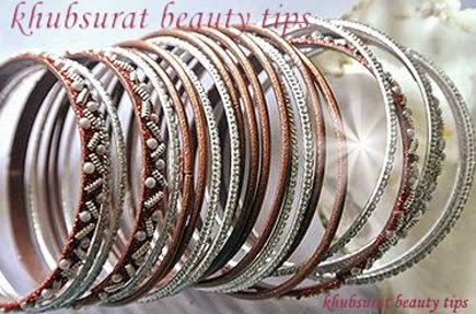 Silver and red bangles for brides 2014