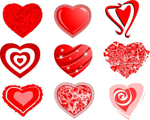 SMS about love, hearts shapes - red heart