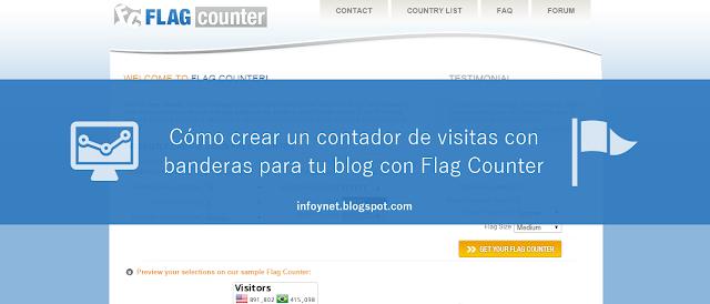 Cómo crear un contador de visitas con banderas para tu blog con Flag Counter