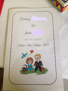 Wedding Ceremony Program Front