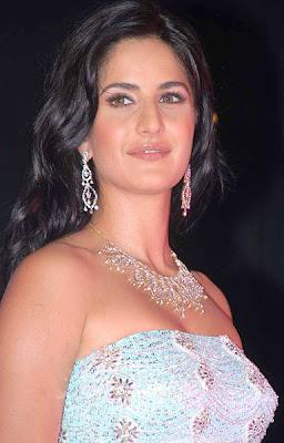 Katrina Kaif Diamond Necklace and Earrings