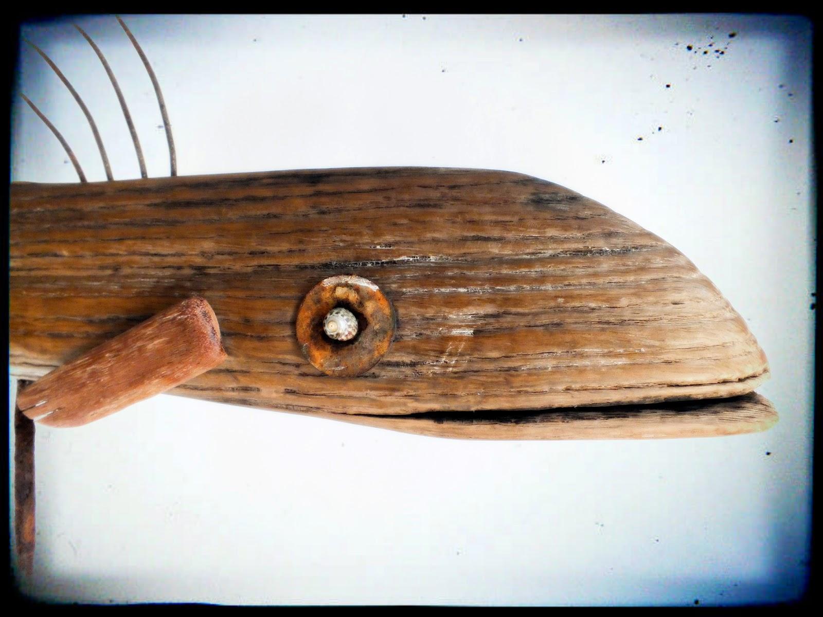 Le gros poisson des grands fonds   Mutoz inc. Art en bois flotté