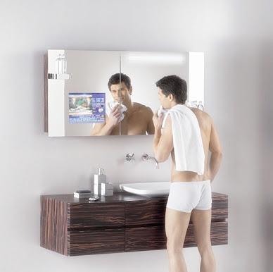 Bathroom Mirror TV Cabinet