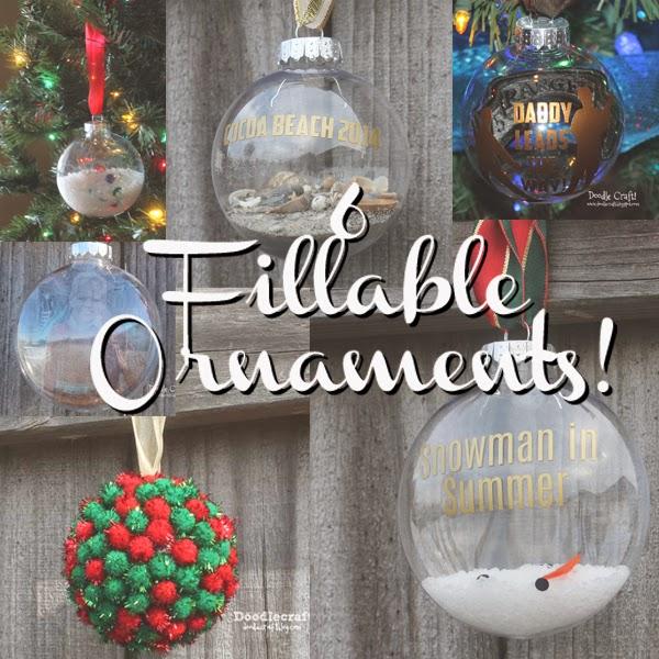 doodlecraft 6 fillable ornaments for christmas. Black Bedroom Furniture Sets. Home Design Ideas